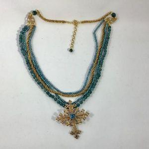 Andrea Barnett Blue Quartz and Pearl Necklace